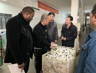 South Africa customer visit Weibaolai Textile